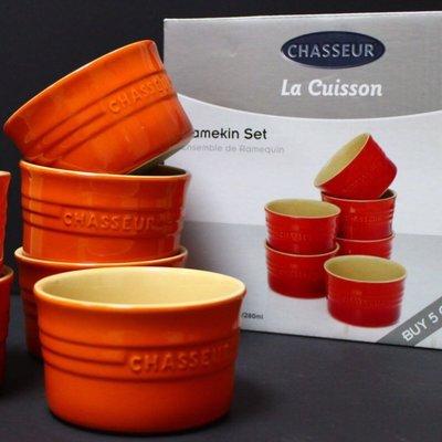 【小麥的店】法國 Chasseur 陶瓷圓形小烤皿 / 小烤盅 二入組