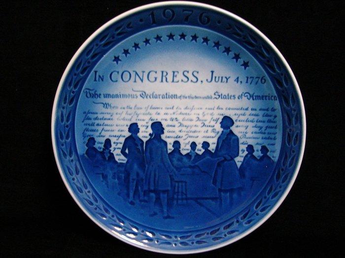 ➷大降➷100一元起標·丹麥皇家 骨瓷·Royal Copenhagen【1976美國獨立宣言200週年 紀念盤】Z74