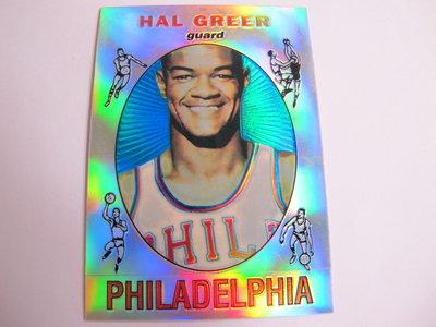 ~Hal Greer~1996年Topps Reprint 哈爾·格里爾 NBA球星 高比例 復古老人 金屬閃亮特殊卡