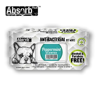 SNOW的家【訂購】Absorb Plus 寵物用抗菌濕紙巾 6種香味-薄荷香 (11090041