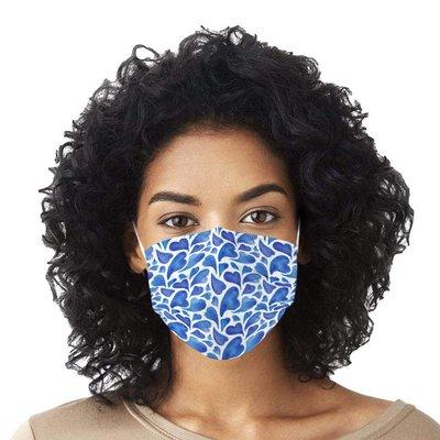 一次性口罩【10片裝】口罩藍葉顏色成人印花一次性口罩直銷3層溶噴布民用