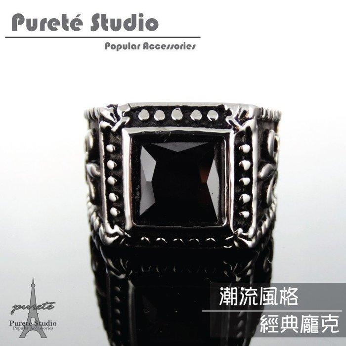 【貝兒蒂潮流館】【P&A-R173】潮流時尚個性化經典龐克精鋼皇家百合造型戒指(另售有項鍊耳環手鍊)