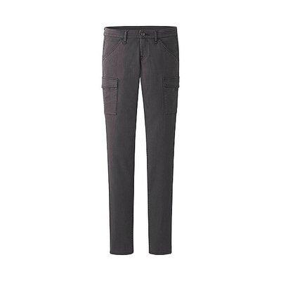 UNIQLO女装 特級彈性Skinny Fit工作褲/深灰61cm