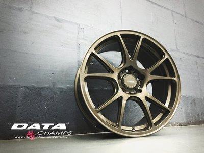 搭配套餐價 土城輪胎王 DATA FF08 18吋旋壓鋁圈 古銅 5/100 5/108 5/114.3