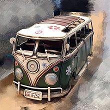 古董模型車 綠色