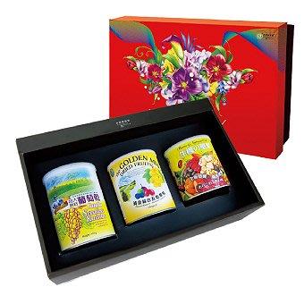 《小瓢蟲生機坊》綠源寶 - C-13葡萄乾堅果三入禮盒 葡萄乾 五色果乾 堅果 禮盒 伴手禮 過年禮