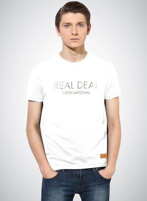 絲綢銀箔 REAL DEAL INTERNATIONAL 字體設計T恤