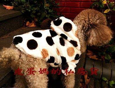 【奶油小牛】普普風大圓點 大衣-柔軟舒適 防寒衣-棉絨 貓咪 狗狗衣服 秋冬外套-厚外套