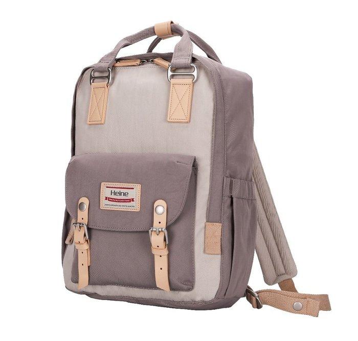 【12H急速出貨】Heine 時尚多功能媽媽包 媽咪包 待產包 尿布包 後背包 雙肩包 外出包 旅行包 -象牙*灰色
