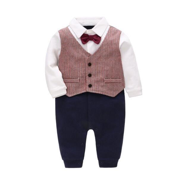 莎芭 秋季新款紳士男童套裝 白襯衫條紋背帶褲兩件套 彌月禮物 生日禮物