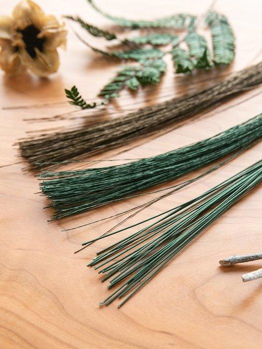 紙包花藝 細鐵絲手 工制作永 生花假花 桿綠鐵絲 粗中式日 式插花工 具