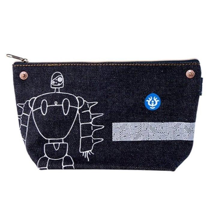 41+現貨免運費 日本正版 進口 宮崎駿 天空之城 EDWIN 聯名 丹寧 收納包 化妝包 筆袋 小日尼三 日本可代購