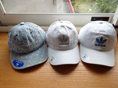 南 現 ADIDAS Striped 老帽 色 可調式 運動帽子 三葉草 水洗藍CJ7712白淡藍CJ3908