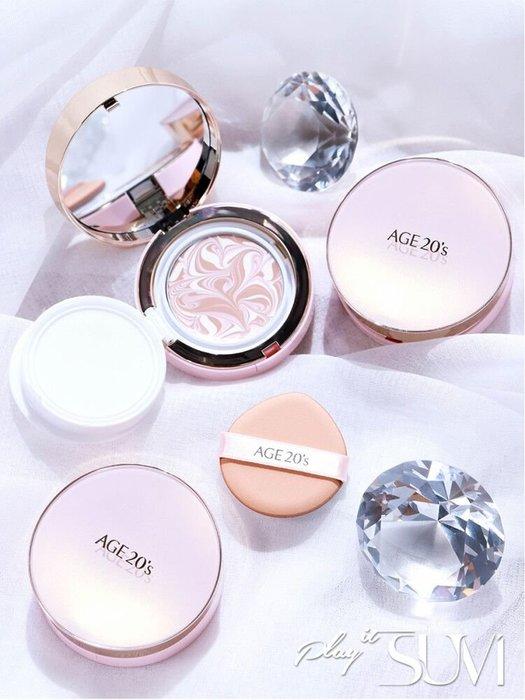 億傢百貨館 魅力彩妝新款 韓國AGE20S愛敬鉆石氣墊套裝BB霜帶替換芯/裝 官網同款