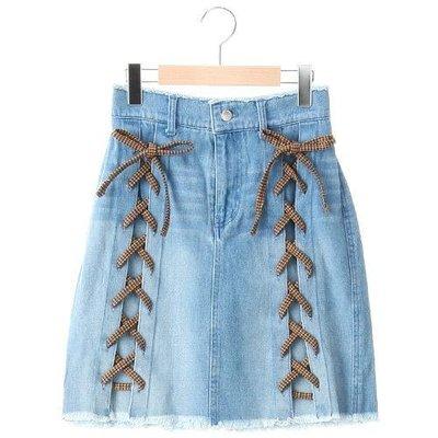 Rivet & Surge 專櫃服飾 蝴蝶結編織風 牛仔裙  深/淺兩款可選