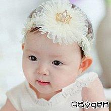 HH婦幼館 熱銷 韓版 新款 皇冠珍珠 網紗 寶寶髮帶 嬰兒頭飾 幼兒童頭帶【2F242Z103】