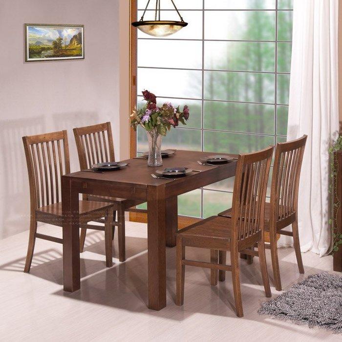 INPHIC-外銷1.2米咖色橡木露腿桌約德 實木搓色