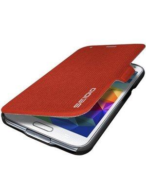 【妮可3C】SEIDIO  for Samsung GALAXY S5 LEDGER™ 掀蓋保護套 - 紅