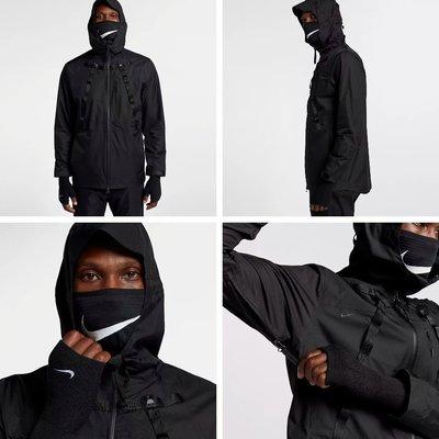 日本代購 Nike x MMW AA3245-010 黑色 口罩式防風連帽外套(Mona)