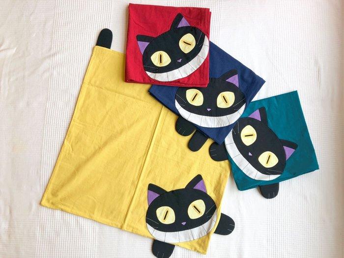 日本卡拉貓~笑笑惡魔貓抗菌純棉抱枕套