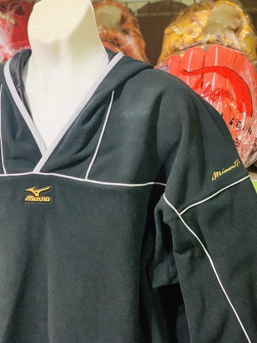 貳拾肆棒球-日本帶回 K-klub目錄外限定版Mizuno pro金標蓄熱套頭訓練衣.黑