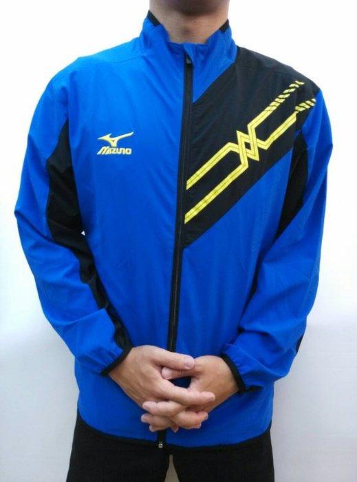運動GO~ 美津濃 MIZUNO 平織外套 長袖 大尺寸 3XL Slim FIT 寶藍 運動 D2TC559916
