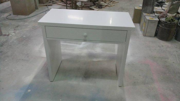 美生活館 家具訂製 客製化 簡單款 純白色 單抽 書桌 美甲桌 寫字桌 工作桌 不需靠牆 雙面有處理 也可修改尺寸顏色