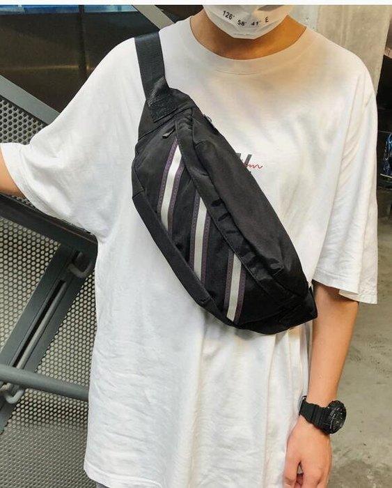 FINDSENSE X  男士胸包反光單肩包嘻哈個性學生腰包