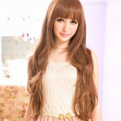 ☆雙兒網☆高仿真耐熱整頂假髮~超火紅甜美女模代言【MA111】混血天使夢幻甜女孩長捲髮