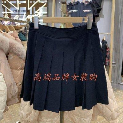 ELAND裙褲20夏季潮新款經典學院風甜美百褶A字半身裙女EEWHA23H3M