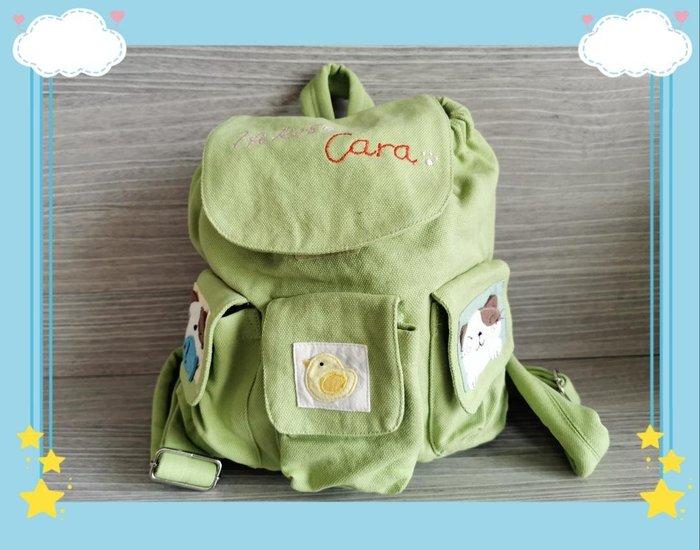 ? 【日本CARA卡拉貓】?卡拉貓可愛兒童後背包蘋果綠