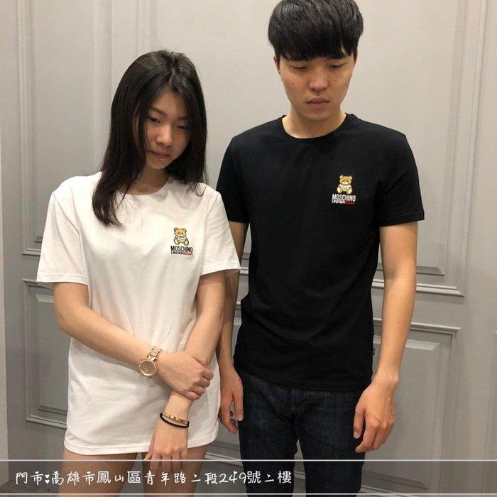 【現貨】 MOSCHINO男 刺繡 熊熊 黑色 白色 短T 保證正品 歡迎來店參觀選購
