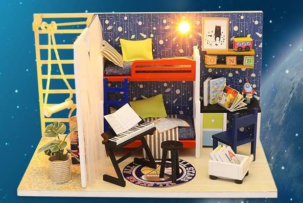 地下尋寶庫DIY袖珍娃娃屋小屋居家場景未來空間 生日禮物 台北車站實體店面 賣場還有數百款小屋