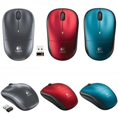 【JHS杰恆社】070單Logitech羅技M215二代底無光無線滑鼠搭單通有Unifying色藍與紅