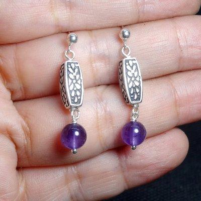 【善觀手作精品】耳環  紫水晶 925銀飾 寶石 設計 手工 手創 飾品 首飾