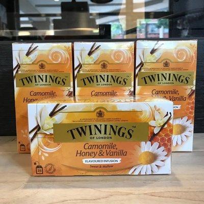*卡拉拉咖啡精品*英國 TWININGS 唐寧茶 香草菊蜜茶 ( 1.5g×25入)
