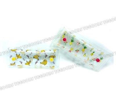 【台中好物】現貨 韓國街頭創意 香蕉 水果風 果凍PVC 防水收納按扣 筆袋 刷包 收納袋 化妝包 鉛筆盒 可愛實用