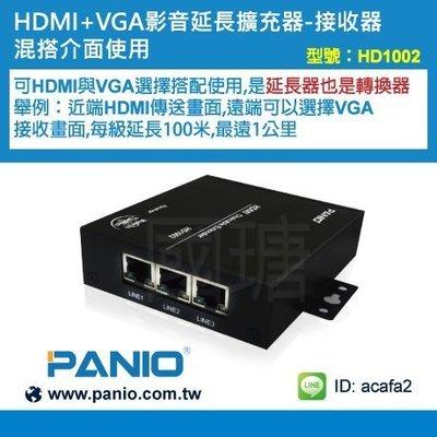 1進3出HDMI 網線型影音延長+分配擴充器1000米《✤PANIO國瑭資訊》 HD1002 (接收器)