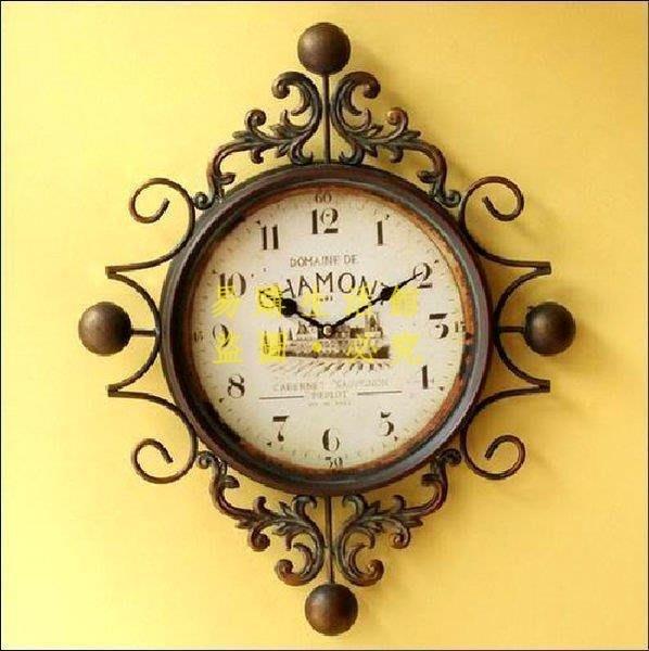 [王哥廠家直销]時鐘 掛鐘 新古典 zakka 雜貨 歐式 仿舊 民宿 店面佈置 酒吧 咖啡廳 拍攝道具 室內設計LeGou_1011_1011