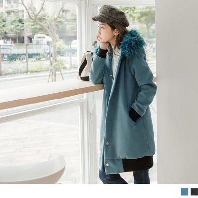 加大碼 全尺碼 EA2417 華麗蓬鬆羽毛大衣連帽外套