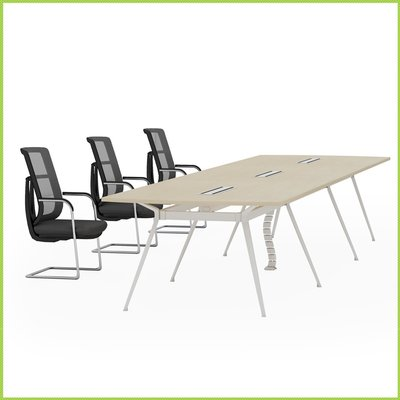 【OA批發工廠】Bell 貝爾系統會議桌 洽談桌 美耐板桌 單開線槽盒 大型會議桌 簡約現代設計 客製品需先詢價