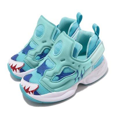 =CodE= REEBOK PUMP FURY INF 鯊魚慢跑學步鞋(藍白) EG6268 小童嬰兒 INSTA 男女