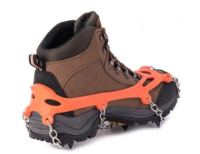 簡易雪地用登山鞋冰爪附加器八齒冰爪鞋鏈防滑釘雪地耐磨防滑釘鞋雪鏈AT8601