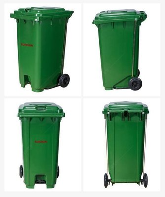 120公升二輪腳踏式掀蓋垃圾桶/ 醫院髒衣桶/ 資源回收垃圾桶/ 大型垃圾桶/ 垃圾子車/ LOFT/ 分類垃圾桶/ 社區用腳踏垃圾...