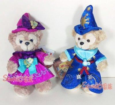 《東京家族》日本東京海洋迪士尼樂園限定 達菲熊/雪莉玫 duffy 魔術師 絨毛吊飾 站姿 2選1 日本帶回