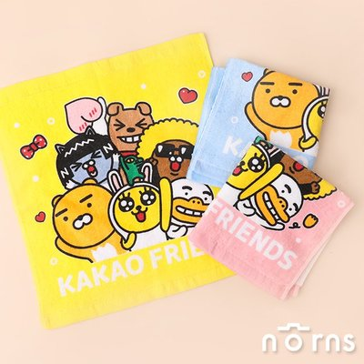 Kakao Friends純棉小方巾- Norns 正版授權 台灣製造 卡通毛巾 Ryan Apeach