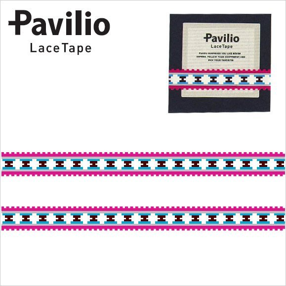 ~散步 雜貨~文具散步~ 製 Pacilio ~Lace Tape Ortega Pink