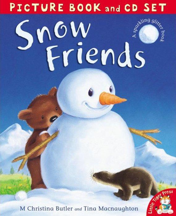 *小貝比的家*SNOW FRIENDS/平裝書+CD/3~6歲/ 節慶