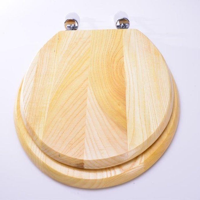 金屬鉸錬實木馬桶蓋 純實木頭VUO型通用馬桶蓋純實木坐便器蓋板ATF