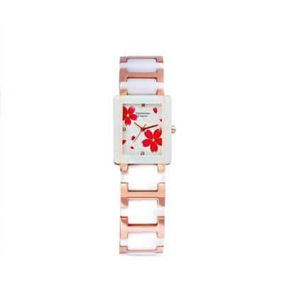 9F 61222RG-3L 愛戀櫻花半陶瓷手錶手表范倫鐵諾古柏 Valentino Coupeau
